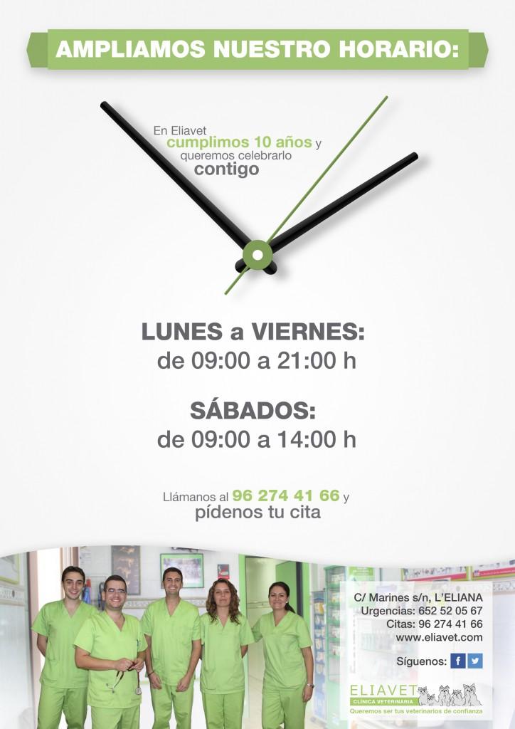 Cartel estrenamos horario Eliavet